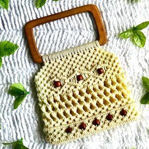 Handbags - Handmade crochet Nd wooden bead small handbag